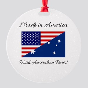 Made in America with Australian Par Round Ornament