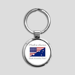 Made in America with Australian Par Round Keychain
