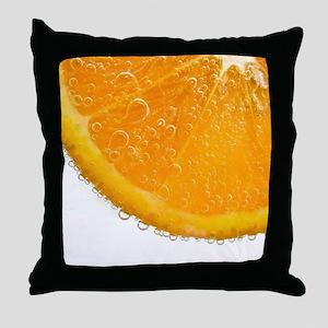 Fizzy Orange Throw Pillow