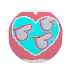 heart stuff Ornament (Round)