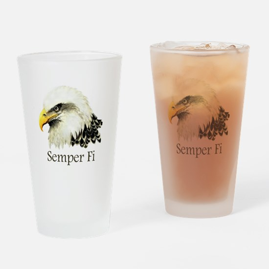 Eagle Semper Fi Drinking Glass