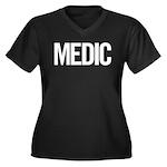 Medic (white) Women's Plus Size V-Neck Dark T-Shir