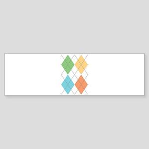 Spring Argyl Bumper Sticker
