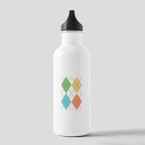 Spring Argyl Water Bottle