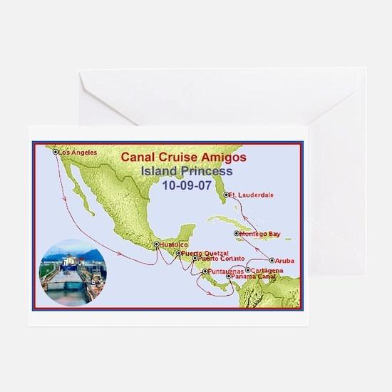 Island Princess- Canal Cruise Amigos- Greeting Car