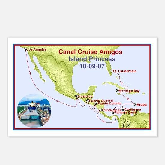 Island Princess- Canal Cruise Amigos- Postcards (P