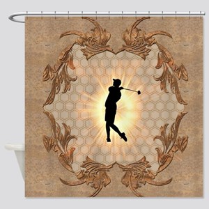 Sport, golfer Shower Curtain