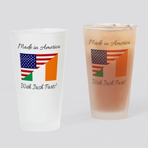 Made in America with Irish Parts Drinking Glass