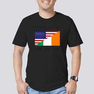 Made in America with I Men's Fitted T-Shirt (dark)