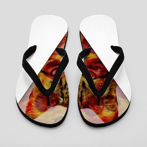 PizzaCat Slice Flip Flops