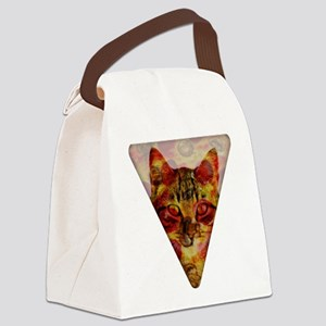 PizzaCat Slice Canvas Lunch Bag