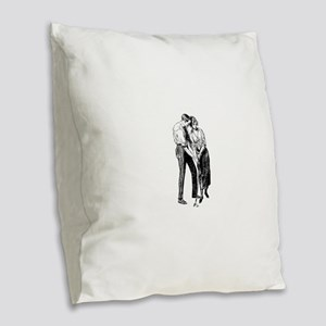 vintage golf Burlap Throw Pillow
