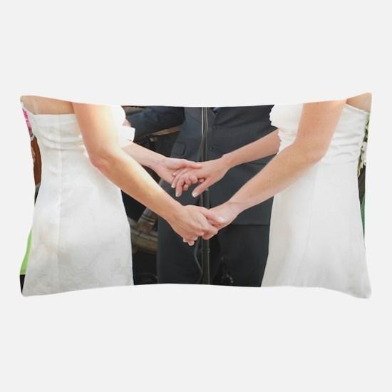 Unique Lesbian wedding Pillow Case