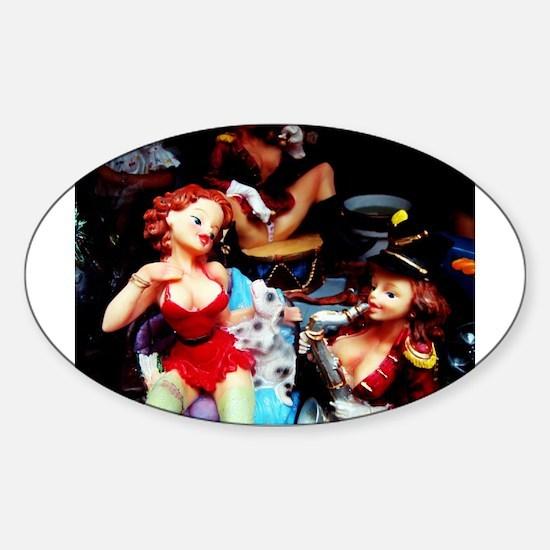Cute Exotic dancers Sticker (Oval)
