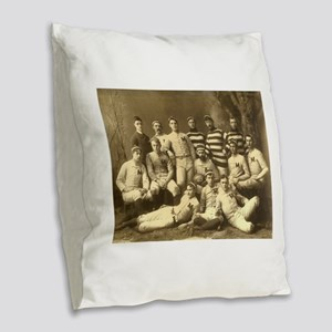 Michigan Wolverines 1888 Burlap Throw Pillow