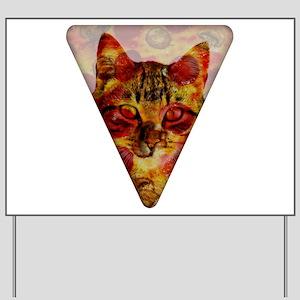 PizzaCat Slice Yard Sign