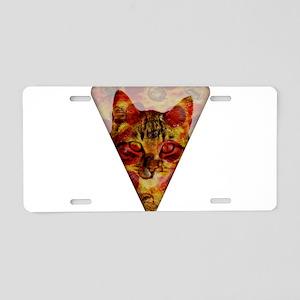 PizzaCat Slice Aluminum License Plate