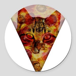 PizzaCat Slice Round Car Magnet