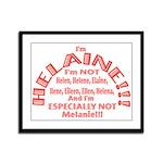 I'm Helaine 2 Framed Panel Print