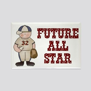 Baseball (Future All Star) Rectangle Magnet