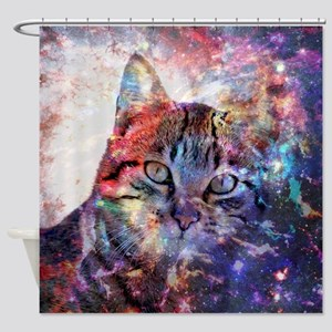 Cat In Space Shower Curtains