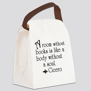 Book Slogans Canvas Lunch Bag