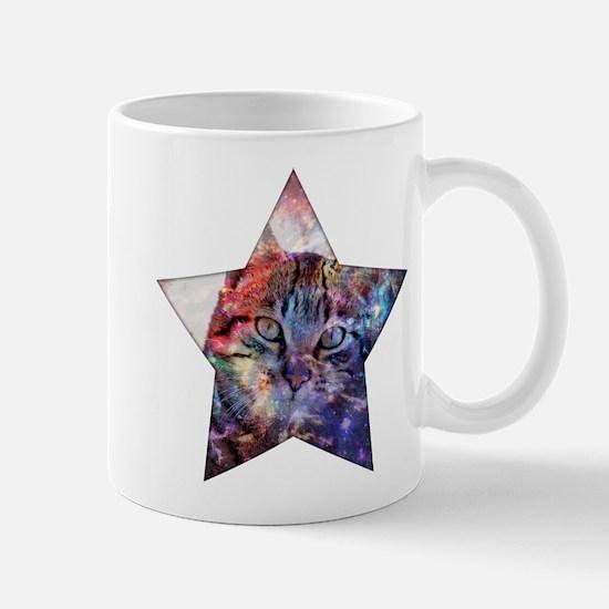 SpaceCat Star Mugs
