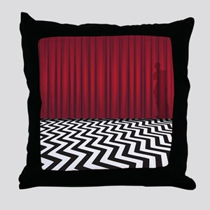 Black Lodge Red Room Throw Pillow