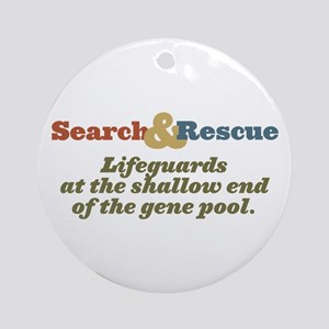 Lifeguards at the shallow end Ornament (Round)