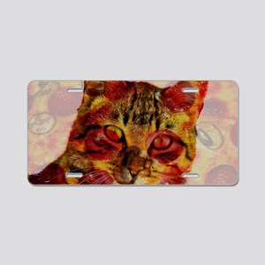 PizzaCat Aluminum License Plate