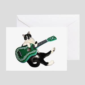 Cat Ukulele Greeting Card