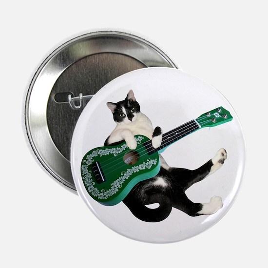 """Cat Ukulele 2.25"""" Button"""