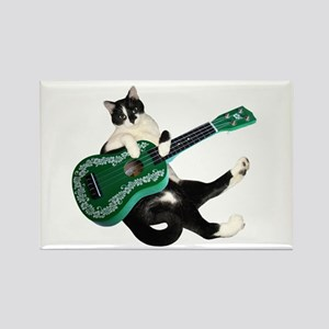 Cat Ukulele Rectangle Magnet
