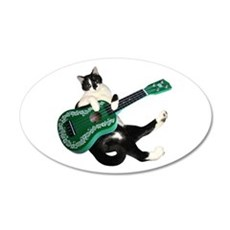 Cat Ukulele Wall Decal