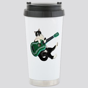 Cat Ukulele Stainless Steel Travel Mug