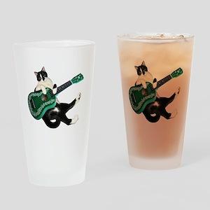 Cat Ukulele Drinking Glass