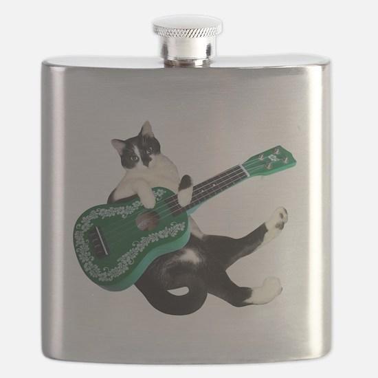 Cat Ukulele Flask