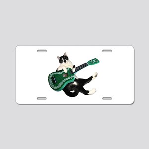 Cat Ukulele Aluminum License Plate