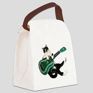 Cat Ukulele Canvas Lunch Bag