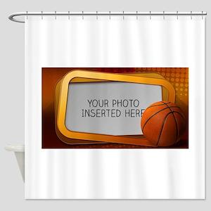 Basketball Window L Shower Curtain