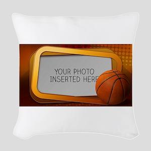 Basketball Window L Woven Throw Pillow