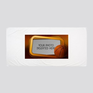 Basketball Window L Beach Towel