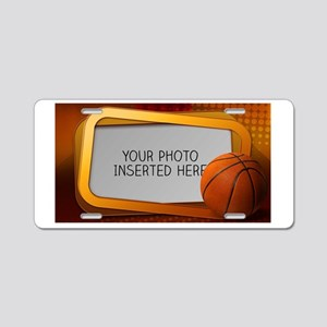 Basketball Window L Aluminum License Plate