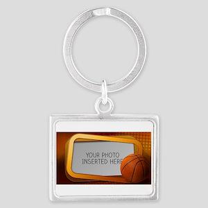 Basketball Window L Landscape Keychain