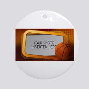 Basketball Window L Ornament (Round)