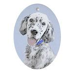 English Setter (Blue Belton) Oval Ornament