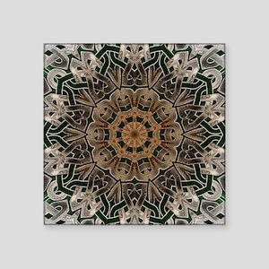 "Stone Celtic Knot Kaleidosc Square Sticker 3"" x 3"""