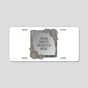 Flowery Presence Aluminum License Plate