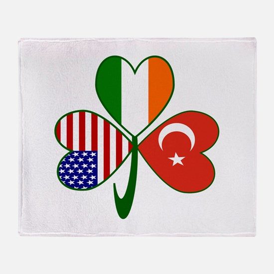 Shamrock of Turkey Throw Blanket