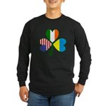 Shamrock of Ukraine Long Sleeve Dark T-Shirt